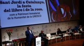Foto Gobierno, Generalitat y sector literario reivindican Sant Jordi como Patrimonio de la Humanidad