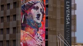 Foto Segunda fase de intervención de los artistas urbanos PichiAvo en Barcelona - 23-29 de septiembre 2019