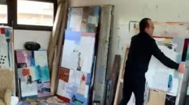 Foto SALA DALMAU PRESENTA UN VIDEO DEL ARTISTA JAVIER LAPUENTE TRABAJANDO EN SU ESTUDIO DURANTE EL CONFINAMIENTO.