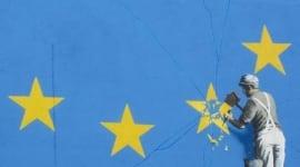 Foto Banksy retrata el Brexit