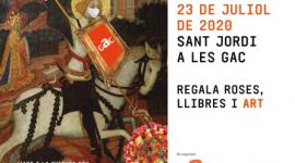 Foto Sant Jordi a les Galeries d'Art de Catalunya el 23 de juliol de 2020